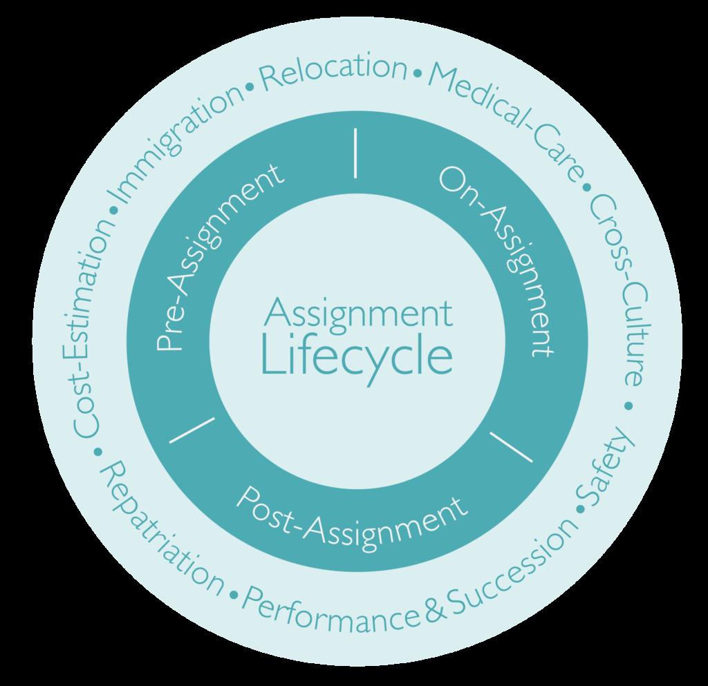 Die verschiedenen Phasen eines Assignment Lifecycles: Welche Phasen des Auslandseinsatzes und welche Services sind relevant?wie zu bearbeiten